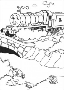 Thomas the train coloring page (34)