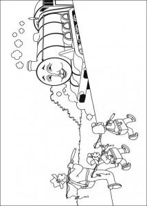 kleurplaat Thomas de trein (37)