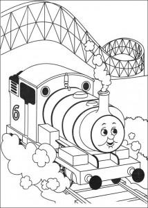kleurplaat Thomas de trein (39)