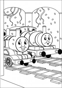 kleurplaat Thomas de trein (4)