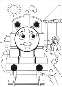 Thomas the train coloring page (41)