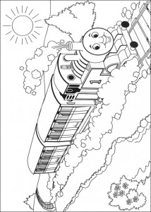 kleurplaat Thomas de trein (42)