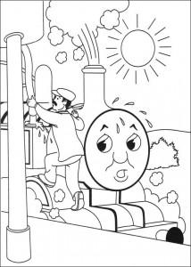 kleurplaat Thomas de trein (44)