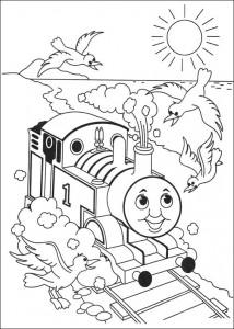 kleurplaat Thomas de trein (45)