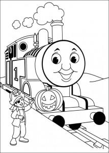 kleurplaat Thomas de trein (49)