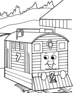 kleurplaat Thomas de trein (5)