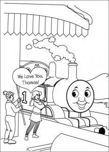 kleurplaat Thomas de trein (55)