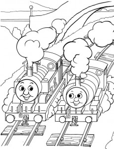 Thomas the train coloring page (6)