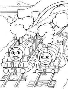 kleurplaat Thomas de trein (6)