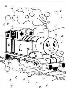 kleurplaat Thomas de trein (7)
