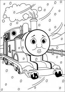 kleurplaat Thomas de trein (8)