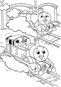 Thomas the train coloring page (9)
