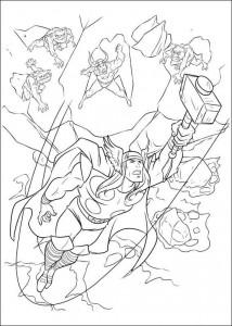 kleurplaat Thor (10)