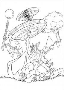 kleurplaat Thor (12)