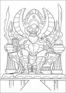 kleurplaat Thor (18)