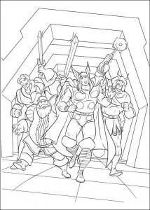 kleurplaat Thor (20)