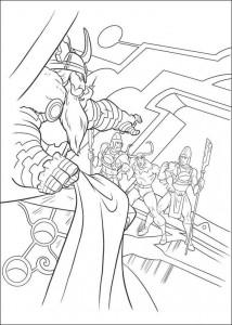 kleurplaat Thor (22)