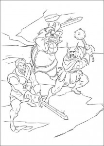 kleurplaat Thor (26)