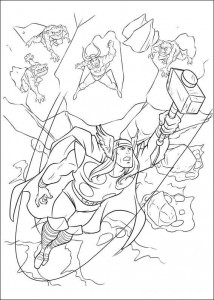 coloring page Thor (5)