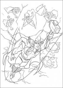 kleurplaat Thor (5)