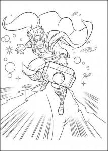 kleurplaat Thor (6)
