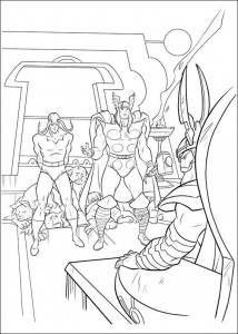 kleurplaat Thor (7)