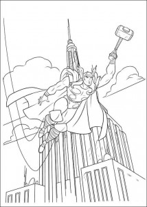 coloring page Thor (8)