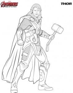 kleurplaat Thor