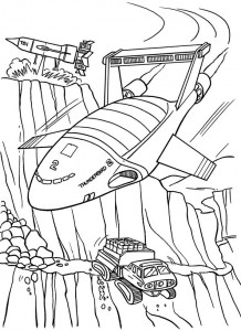 coloring page Thunderbids are go (3)