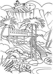 coloring page Thunderbids are go (5)