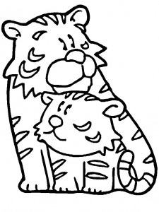 coloring page Tigers (4)