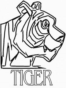 Disegno da colorare tigri (5)