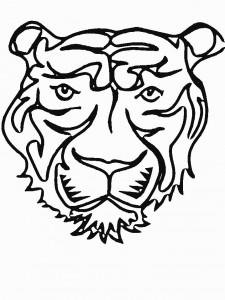 Disegno da colorare tigri (7)
