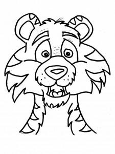 pagina da colorare tigri