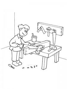 coloring page Carpenter