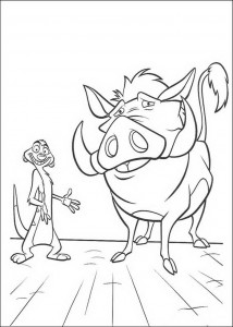 coloring page Timon og Pumba (3)