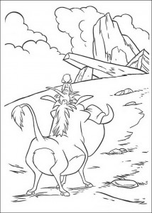 coloring page Timon and Pumba at the King's Rock