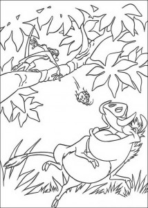 Timon and Pumba coloring page