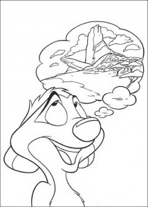 coloring page Timon tells about the King's Rock