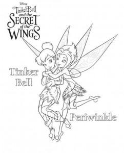 kleurplaat Tinkerbell Secret of the WIngs (1)