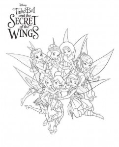 målarbok Tinkerbell Secret of the WIngs (2)