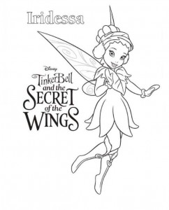 målarbok Tinkerbell Secret of the WIngs (6)