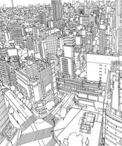tokyo coloring page