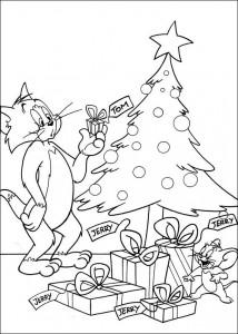 kleurplaat Tom en Jerry (33)