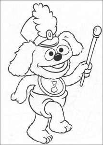 coloring page Tommy as a tambour maitre