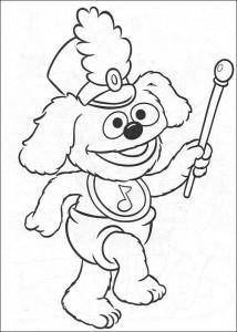 målarbok Tommy som tambour maitre