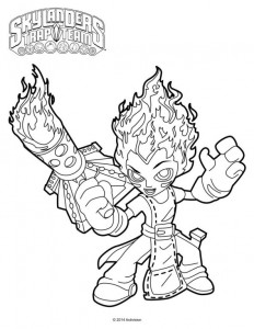 coloring page torch
