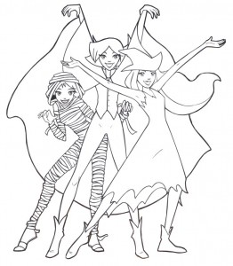 coloring page Totally Spies (1)