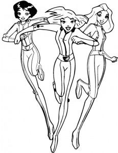 coloring page Totally Spies (10)