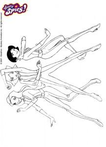 målarbok Totally Spies (2)
